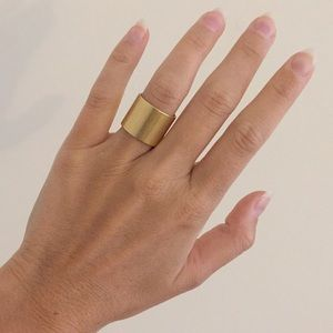 Madewell gold band ring